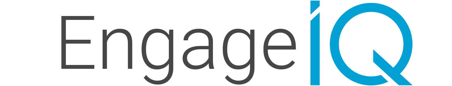 engage iq logo in blue